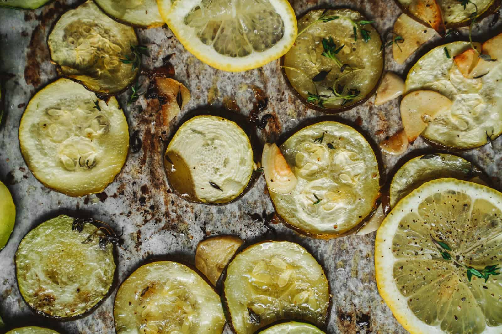 A Quick & Easy Healthy Lemon Herbed Baked Zucchini