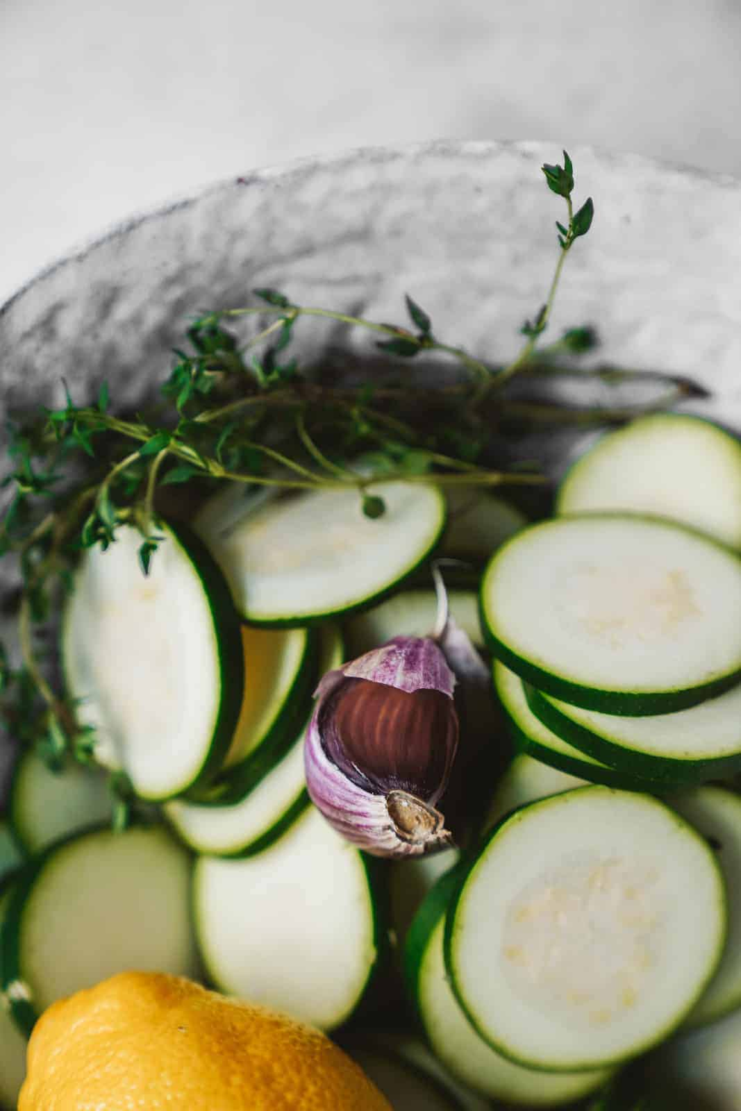 A Quick & Easy Healthy Lemon Herb Baked Zucchini