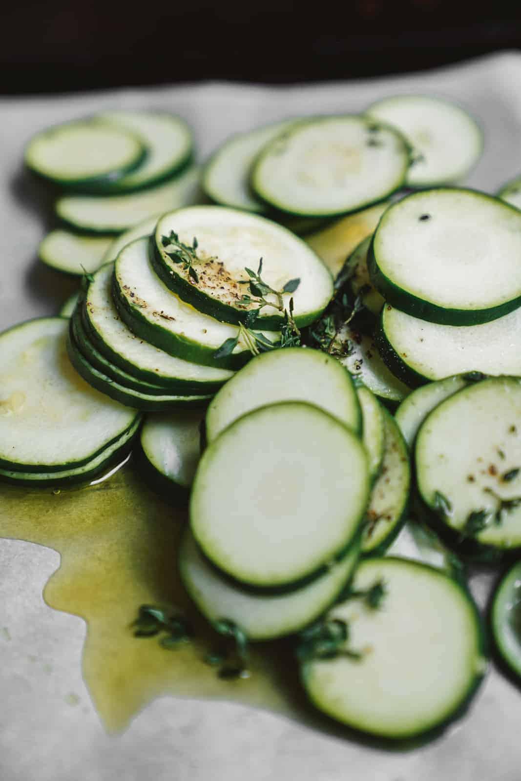 Tasty baked zucchini