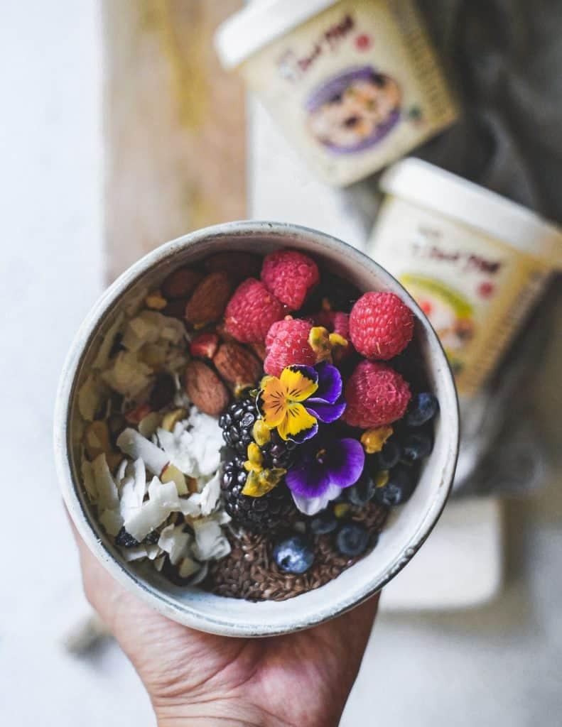 organic food muesli bowl