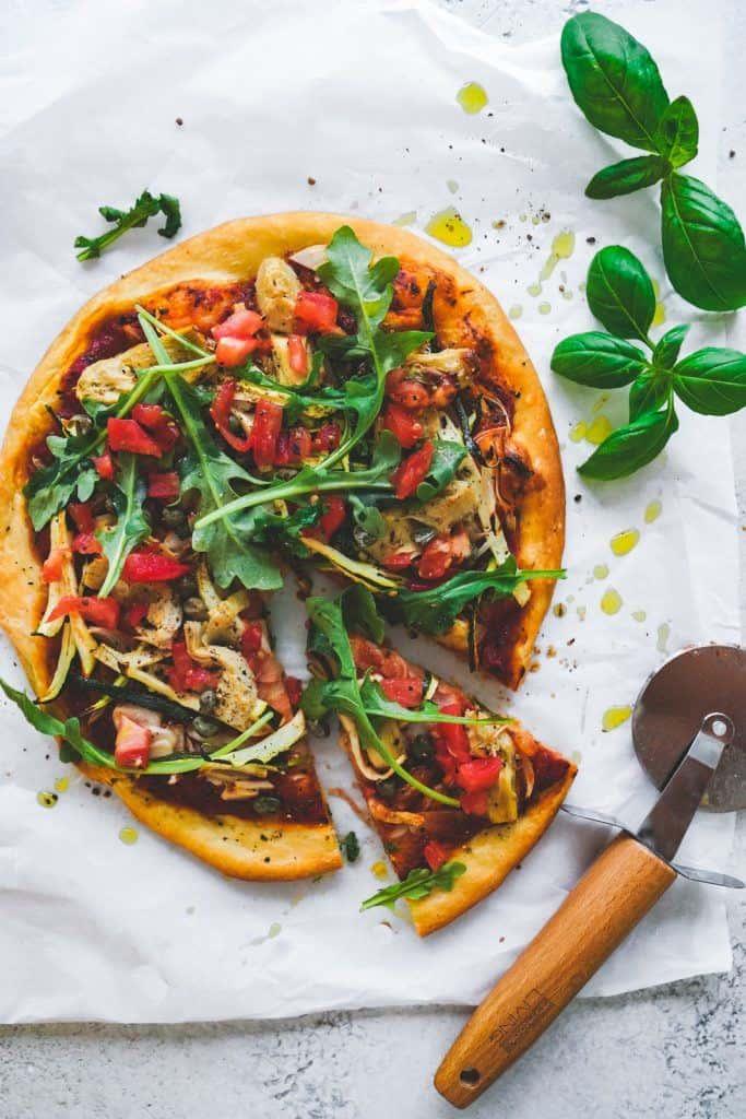 Plant-Based Garlic + Onion Infused Pizza Dough - FoodByMaria