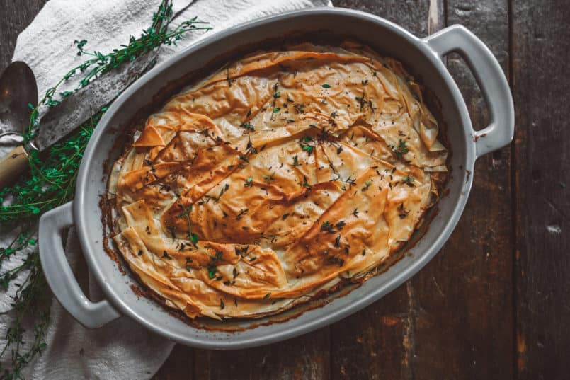 This plant based lentil casserole is a great option to bring to any Christmas dinner. With all the gatherings this vegan dish will definitely stand out.