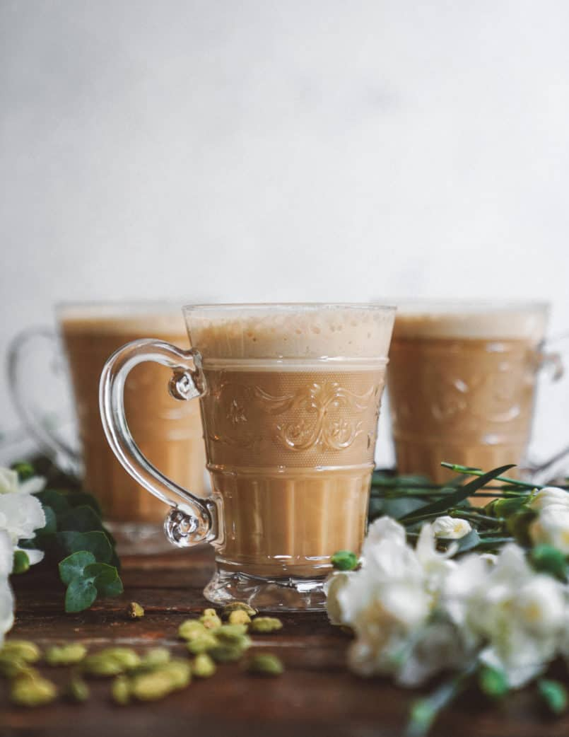 This plant based cashew milk latte is an instant cup of cheer! Cashews make the creamiest milk, perfect for your morning coffee.