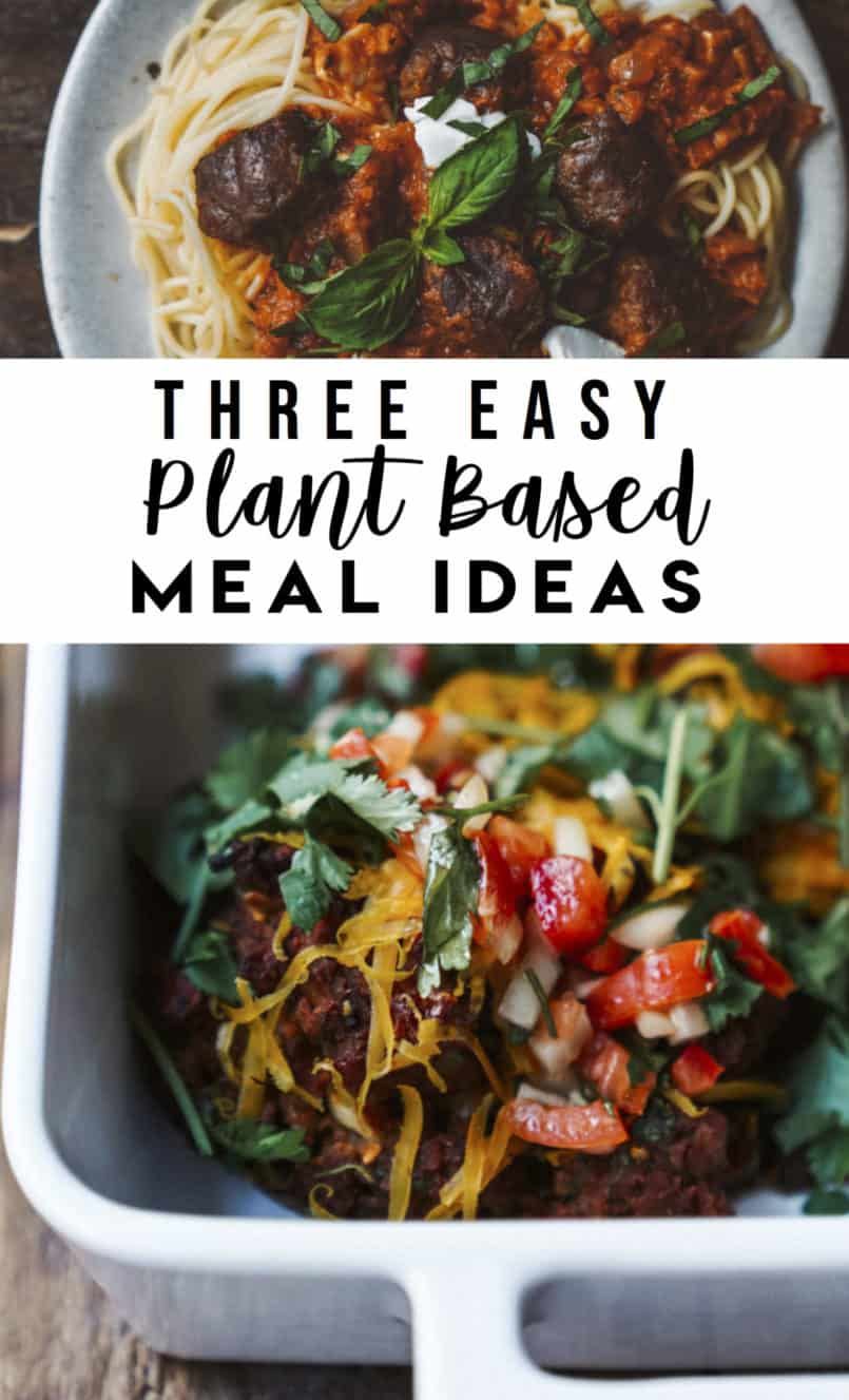 Meal planning can feel daunting at times but Food By Maria is here to help! I've included three easy plant based vegan recipes like spaghetti bolognese.