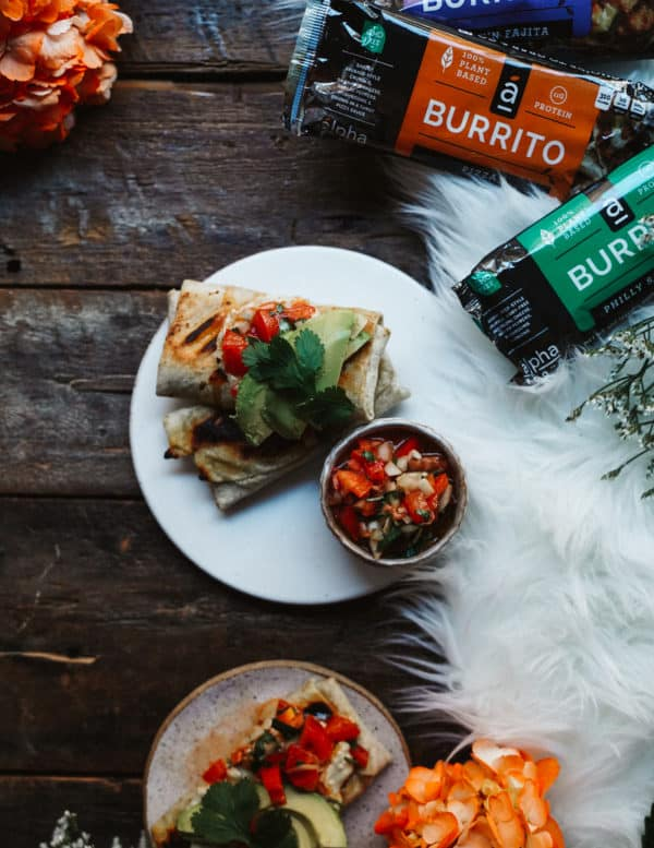 When I tried these plant based All Day Burritos made with meat and dairy alternatives, I couldn't help but spice it up a bit with my cashew chipotle sauce.