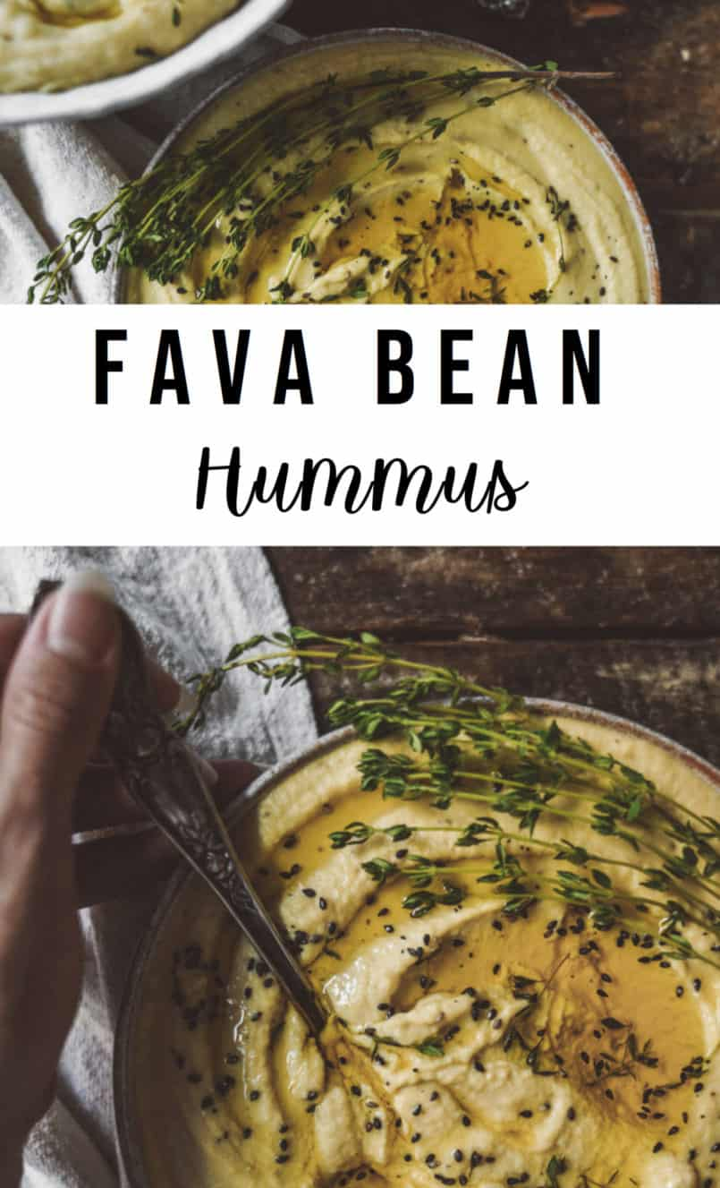 For anyone who is trying to eat more plant based, hummus is such a versatile vegan spread. This recipe uses Fava Beans as the base of this delicous dip.