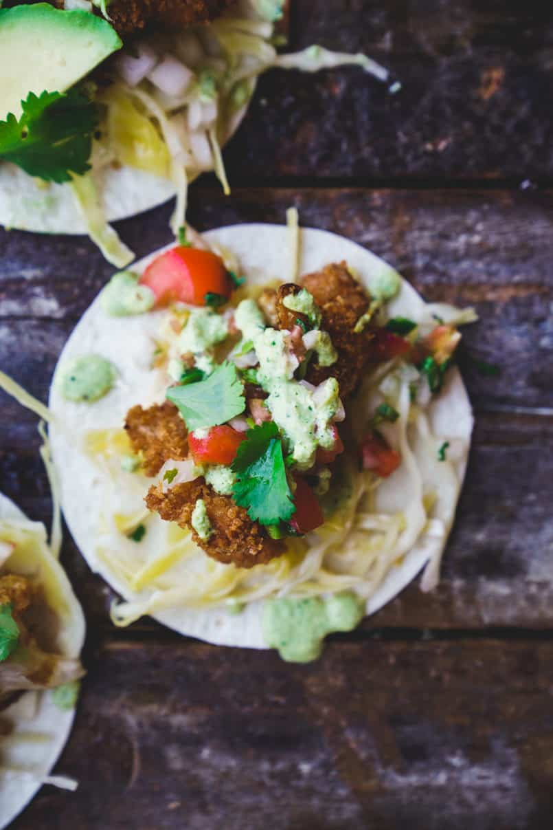 Include these plant-based cauliflower tacos in your healthy meal plan. Breaded with 100% whole wheat Triscuit crackers they will easily become a favourite.