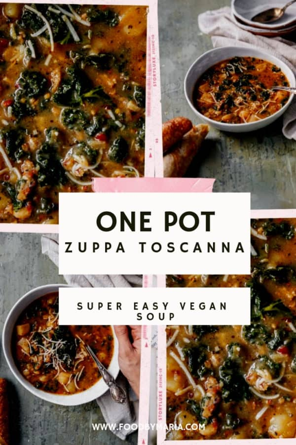 I stumbled on a traditional Italian Zuppa Toscana and decided to try out my own vegan version. This soup is warm, hearty, and super easy to make.