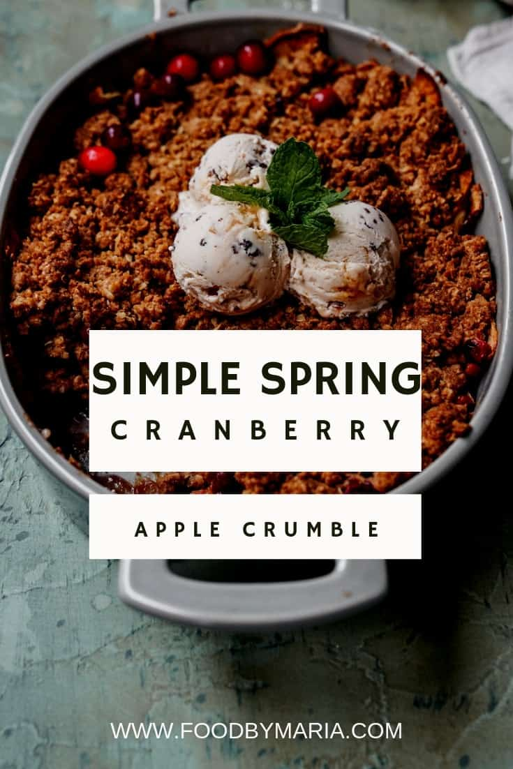 This cranberry apple crisp is super simple and very Spring inspired. It's beautifully balanced and will hit that warm crunchy sweet spot.