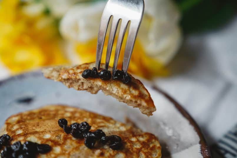 It's time to up your breakfast game, and this easy fluffy pancake recipe is perfectly paired with my homemade berry simple syrup is a great place to start!