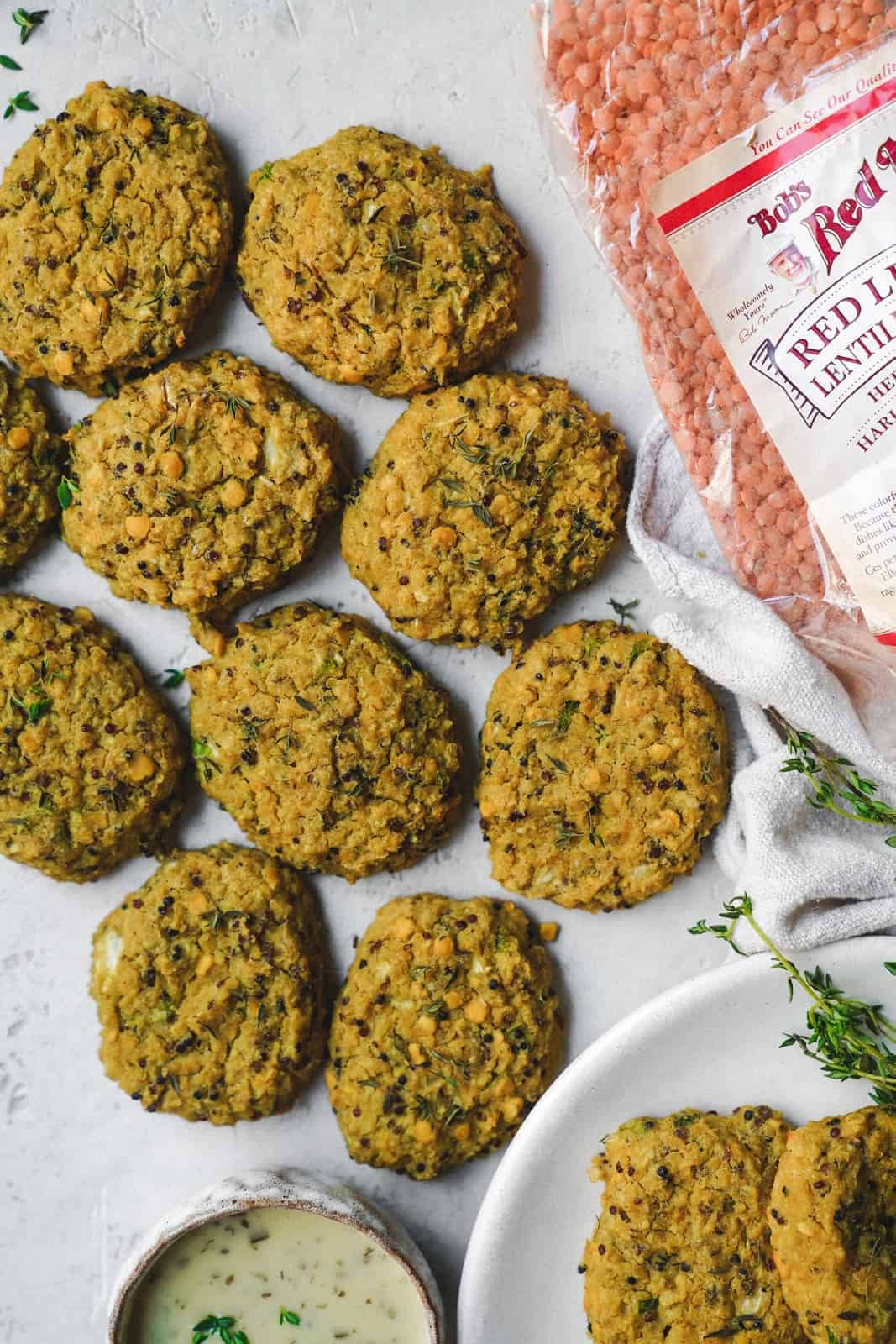 Yummy plant based vegetable fritters made with my fav Bob's Red Mill vegan products. Perfect for the BBQ!