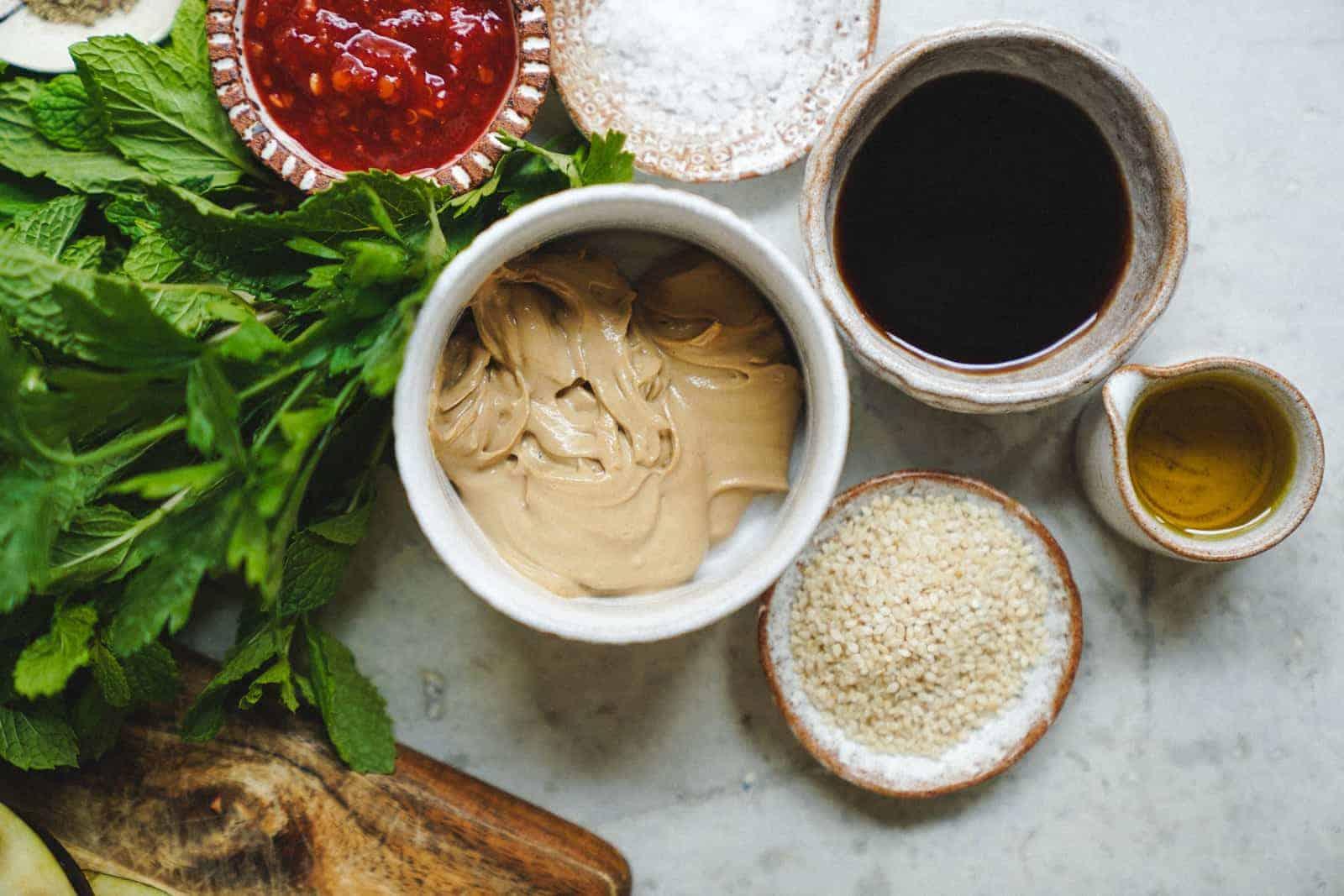 Sesame soy grilled eggplant