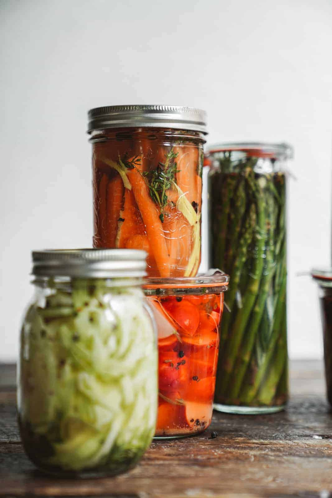 How to pickle vegetables quickly & easily.