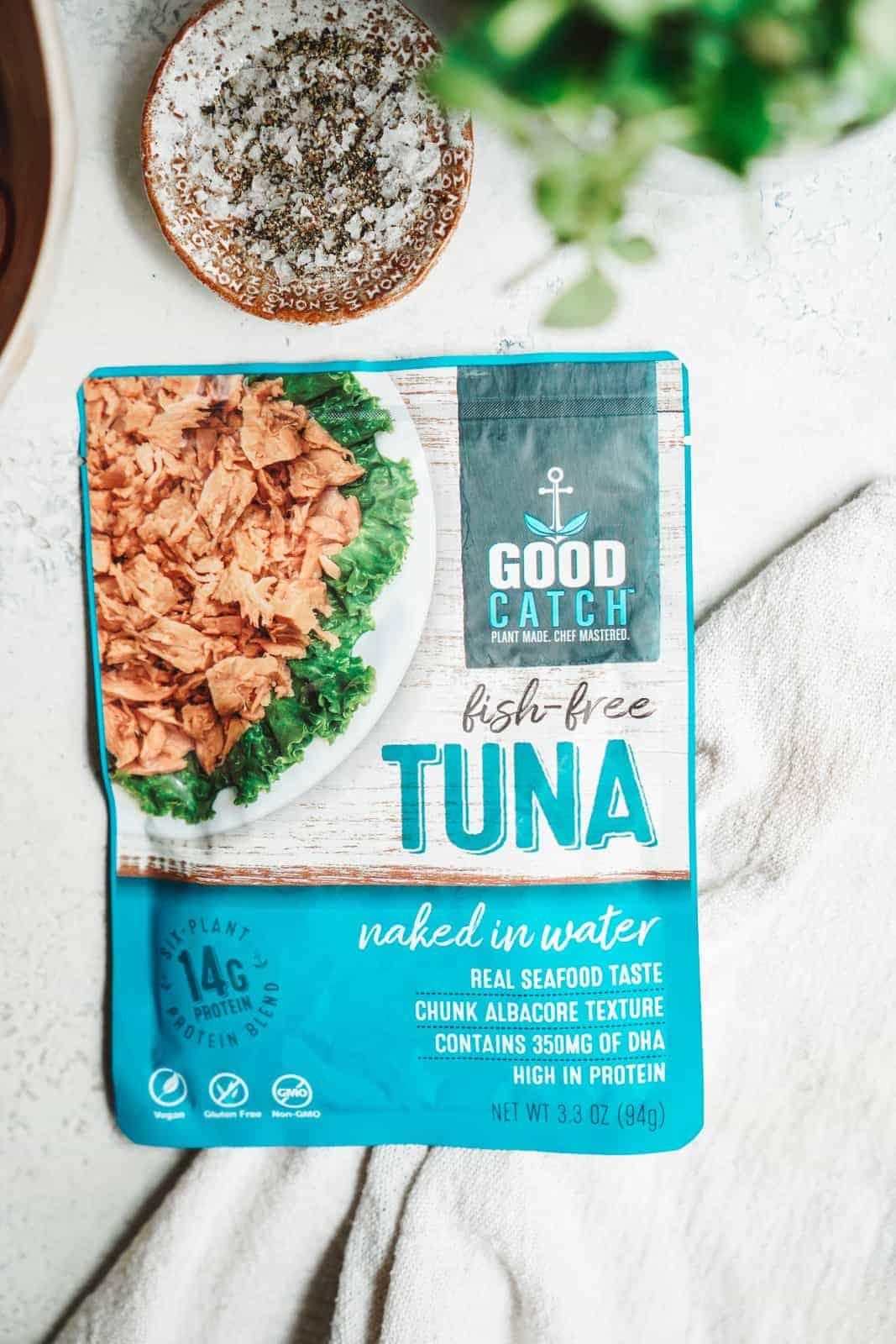 Good Catch Foods Vegan Tuna on countertop