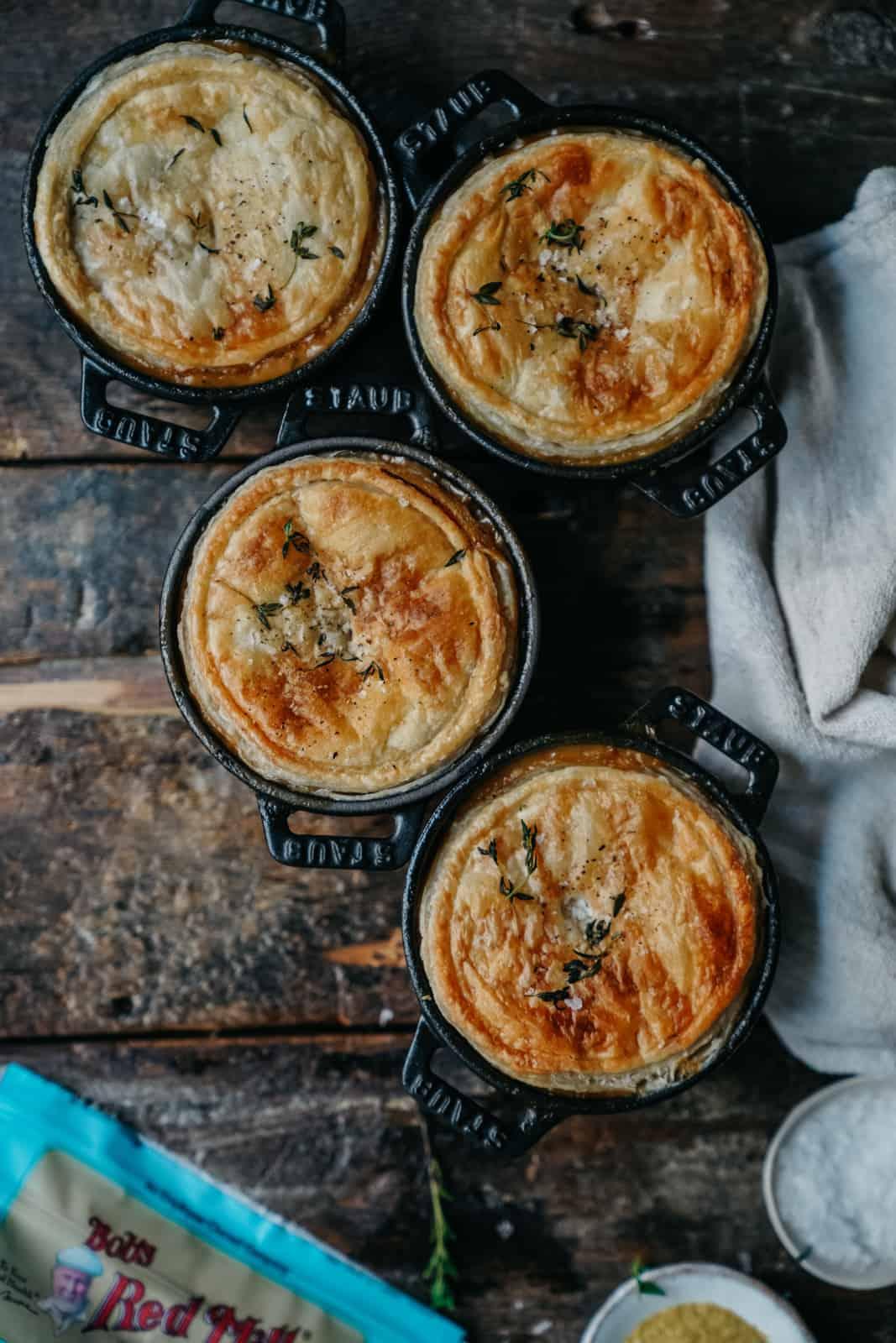 The best cream of mushroom pot pie. Completely vegan & delicious!