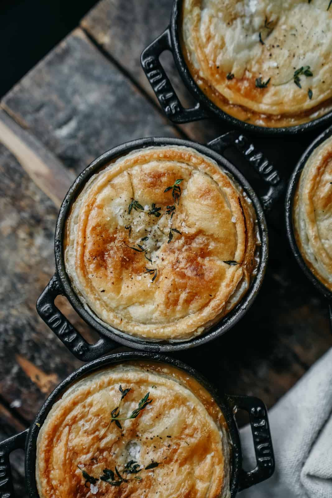 The best cream of mushroom pot pie. Completely vegan & delicious!