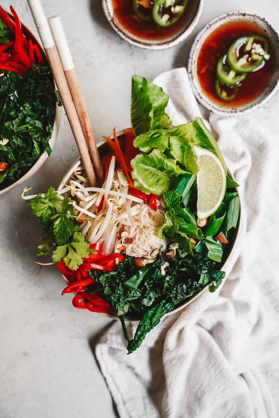 Vegan Fish Sauce + Spring Roll Bowl