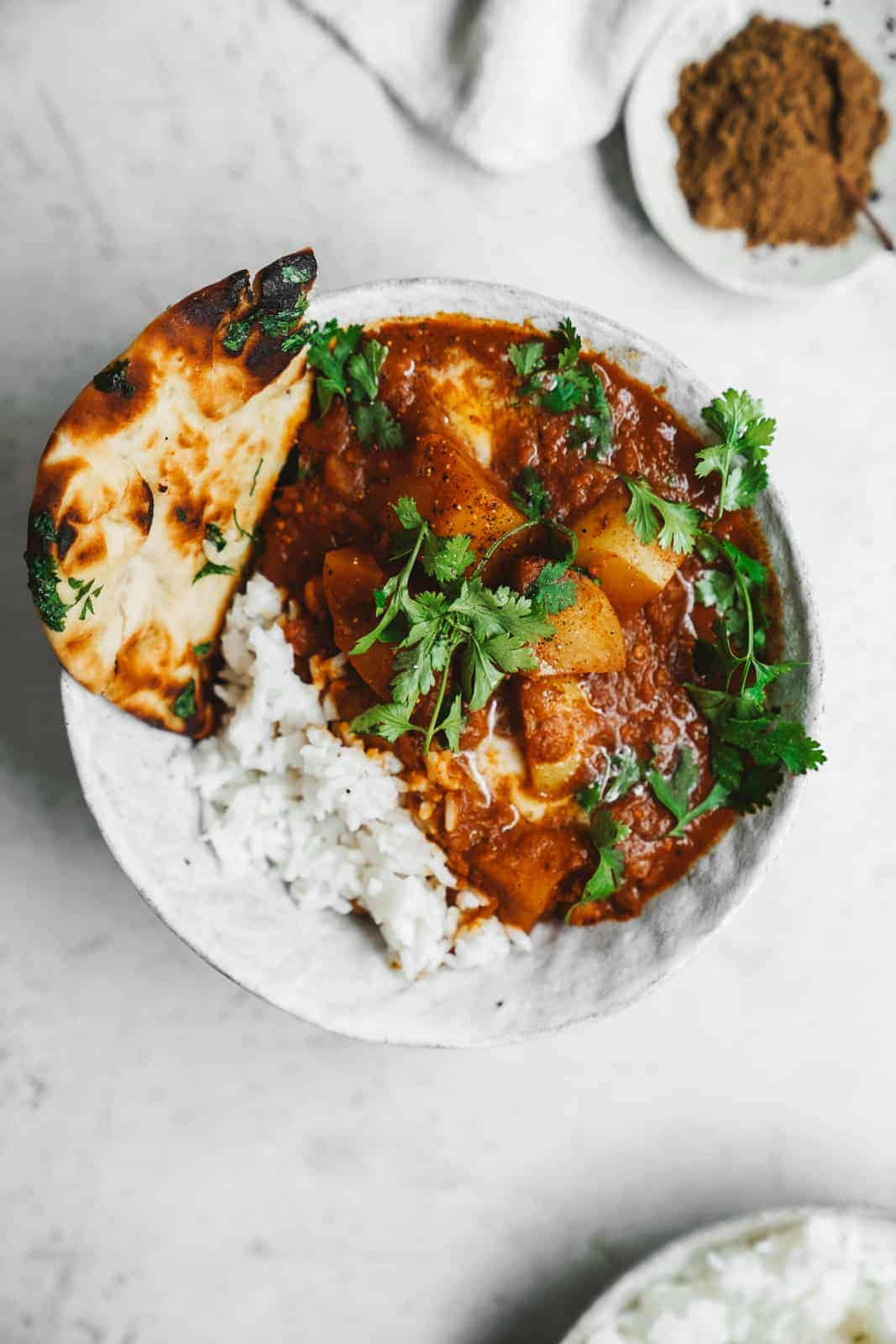 Vegan butter chicken curry