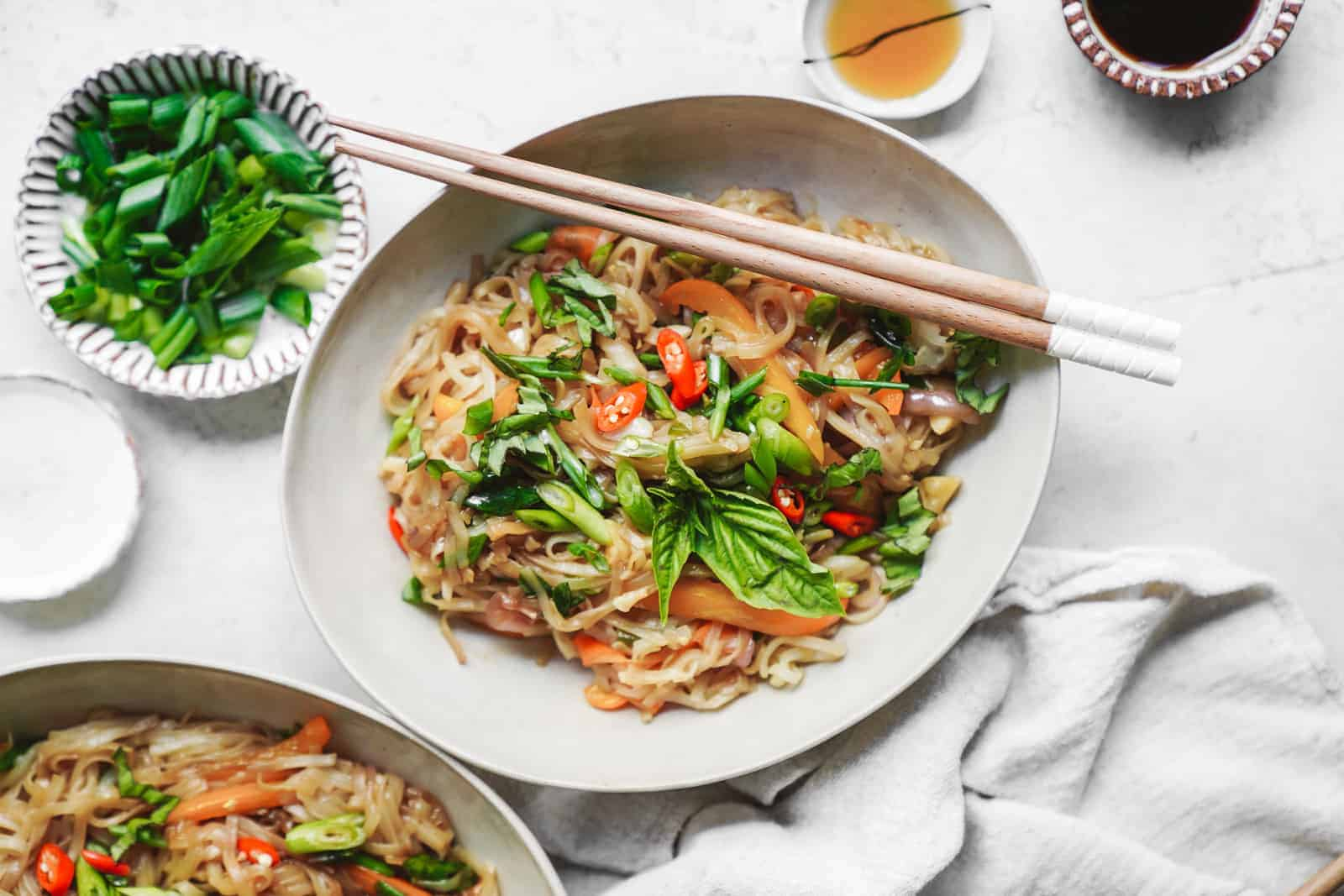 Yummy drunken noodles that are completely vegan!