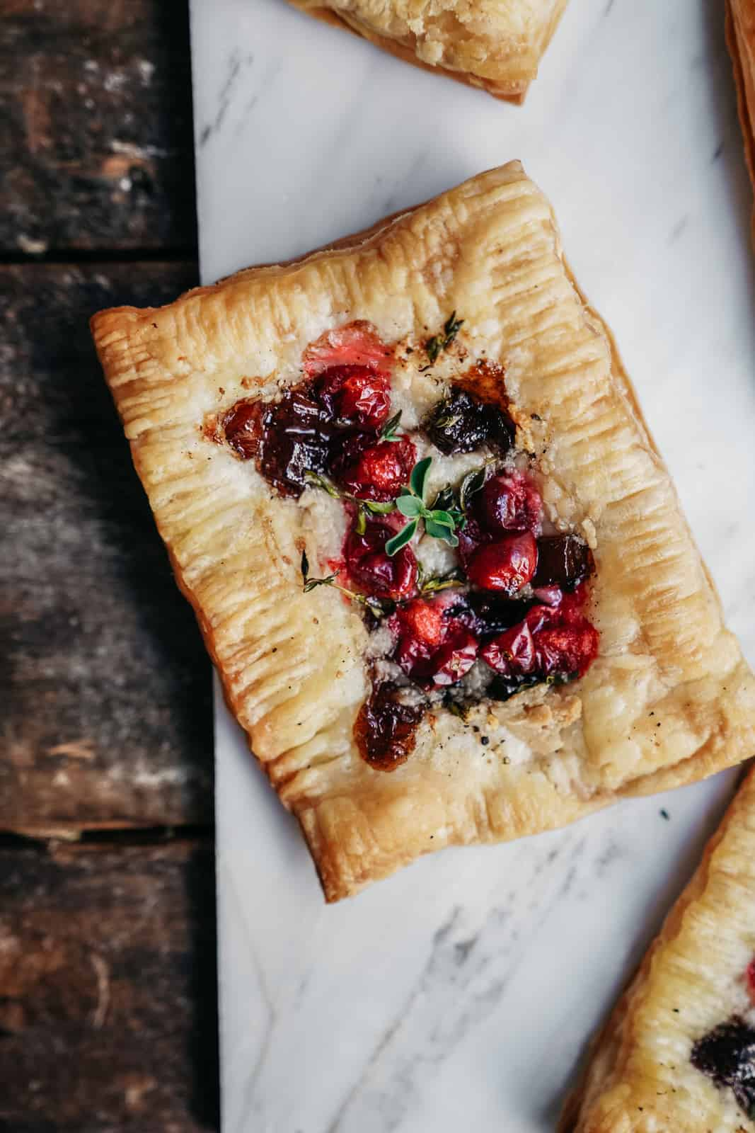 vegan cranberry tart