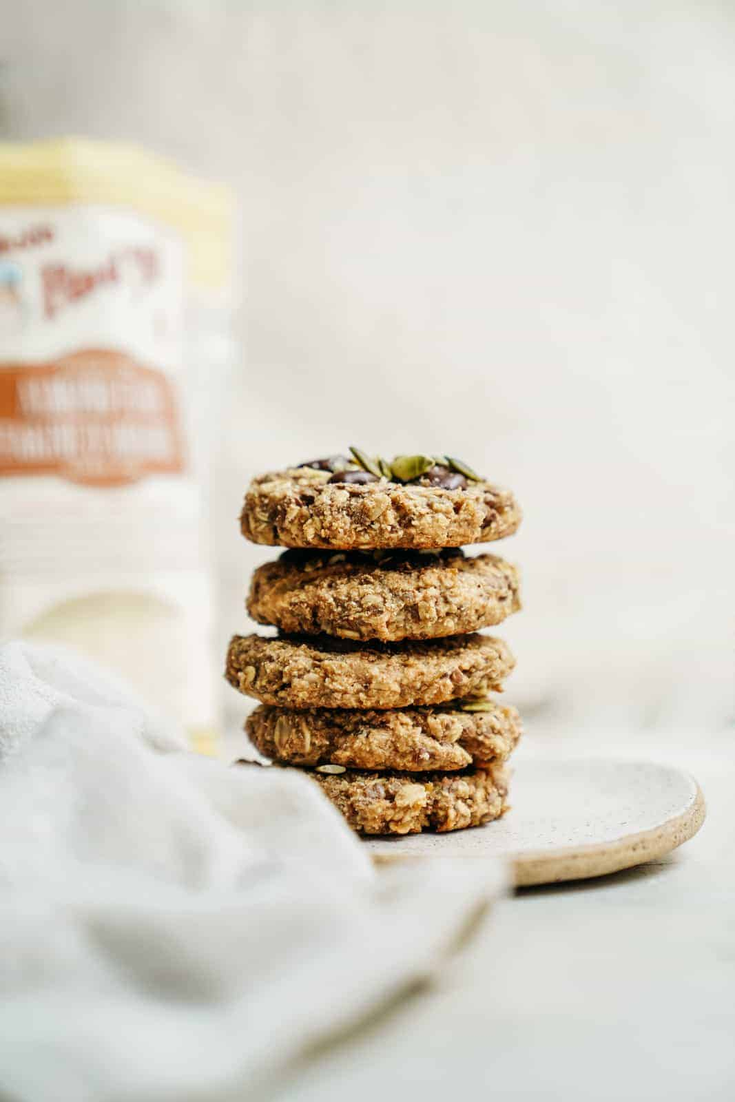 Breakfast Cookies Recipe stacked on a plate