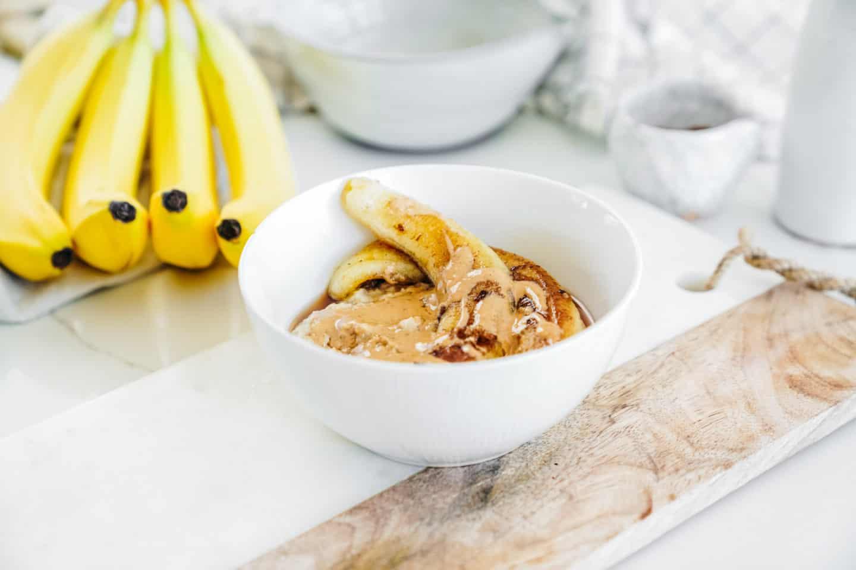 Caramelized bananas on a countertop