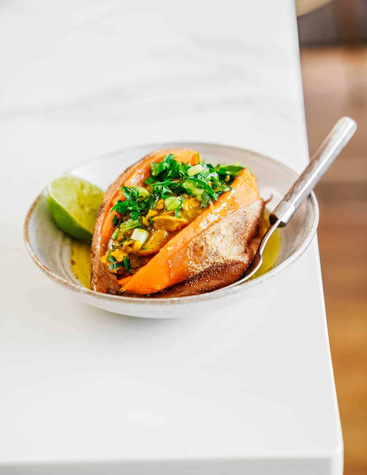 Curried Tuna Stuffed Sweet Potato