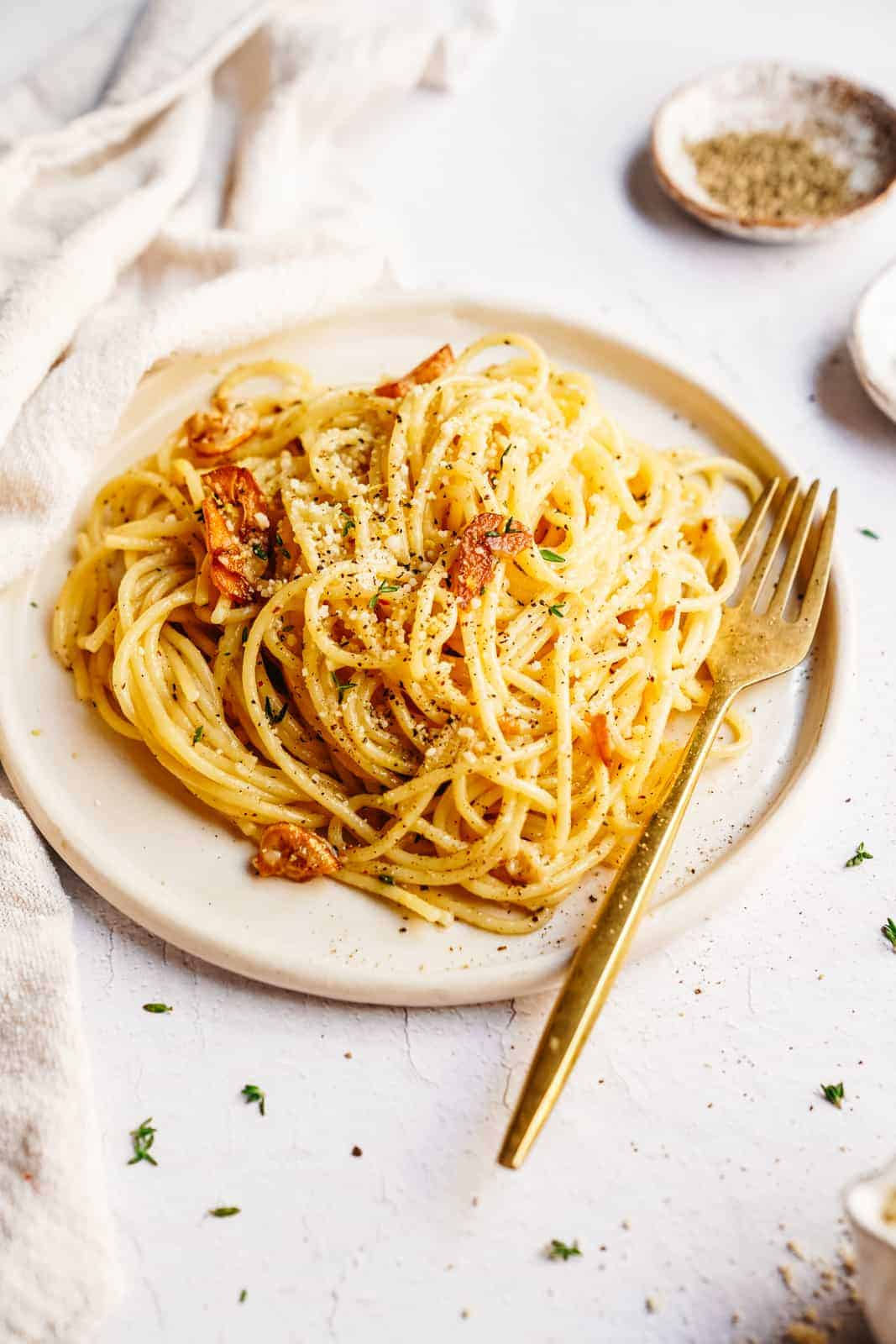 Spaghetti with Oil and Garlic