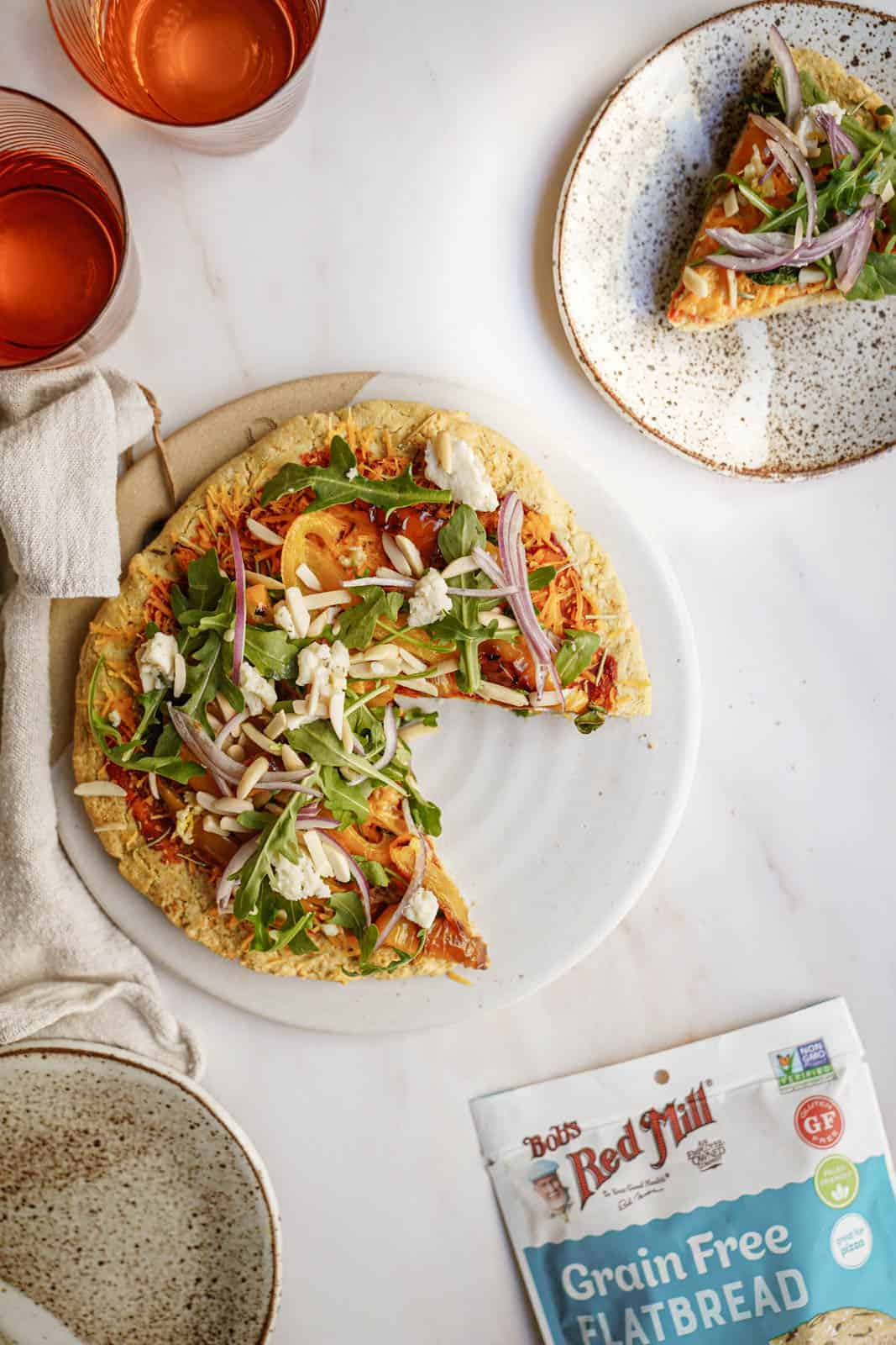 The Best Gluten-Free Vegan Pizza Crust Recipe on countertop