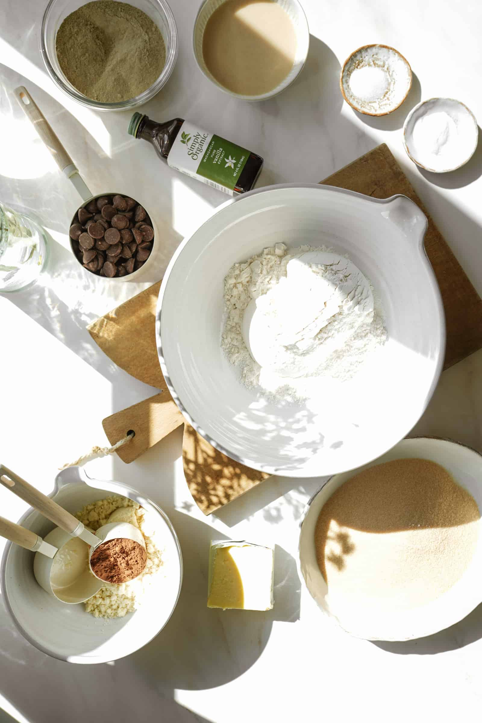 Ingredients for vegan protein cookies