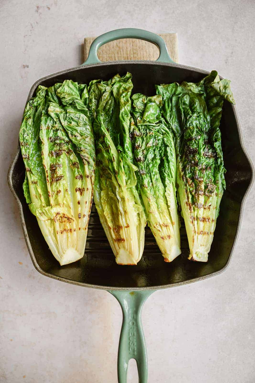 grilled romaine lettuce heads