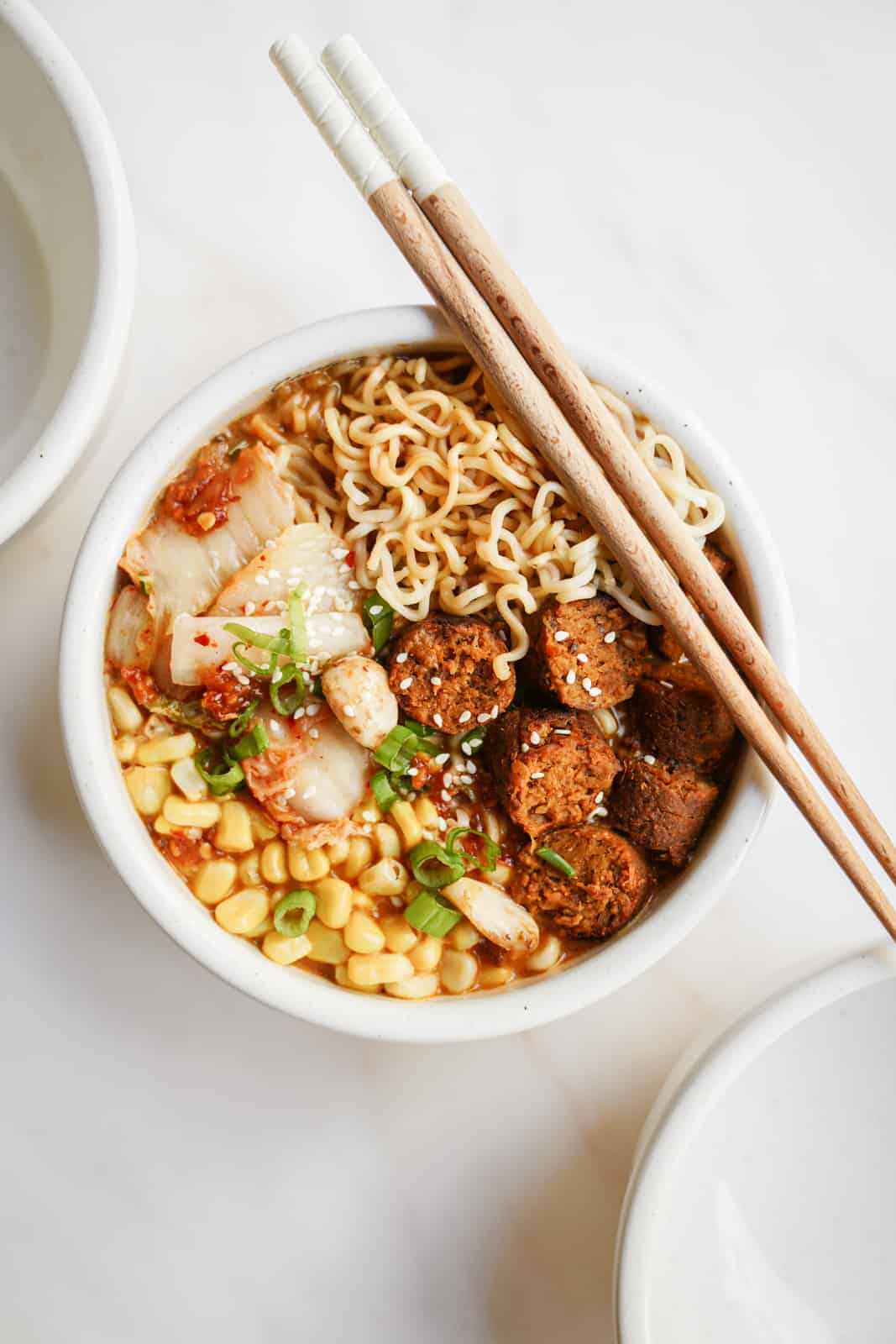 Vegan Miso Ramen in a serving bowl