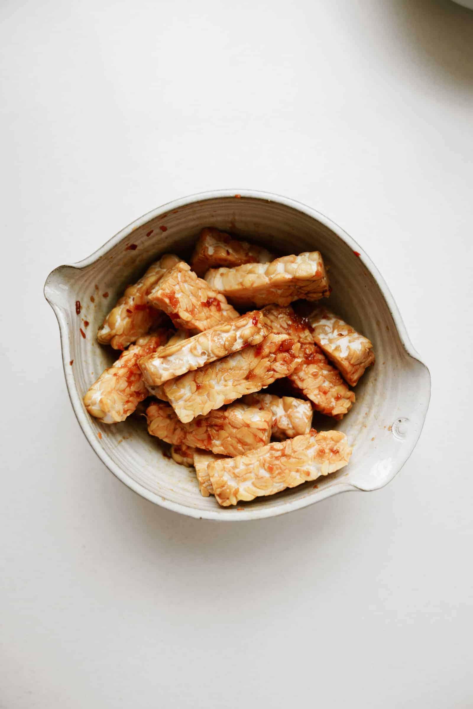 Protein marinating for vegan ramen