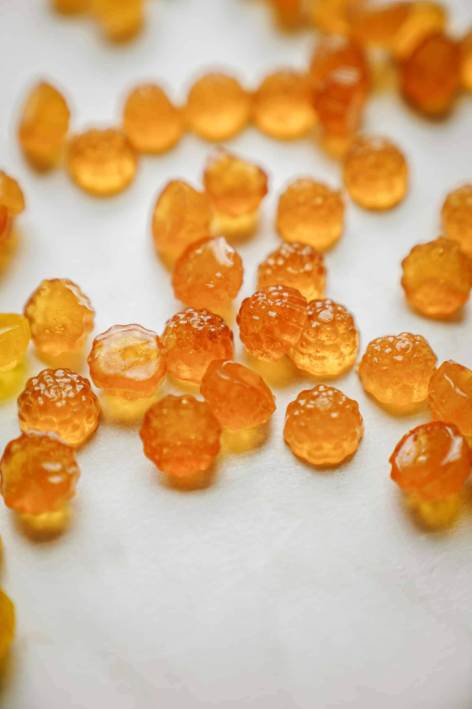 close up of herbaland gummies