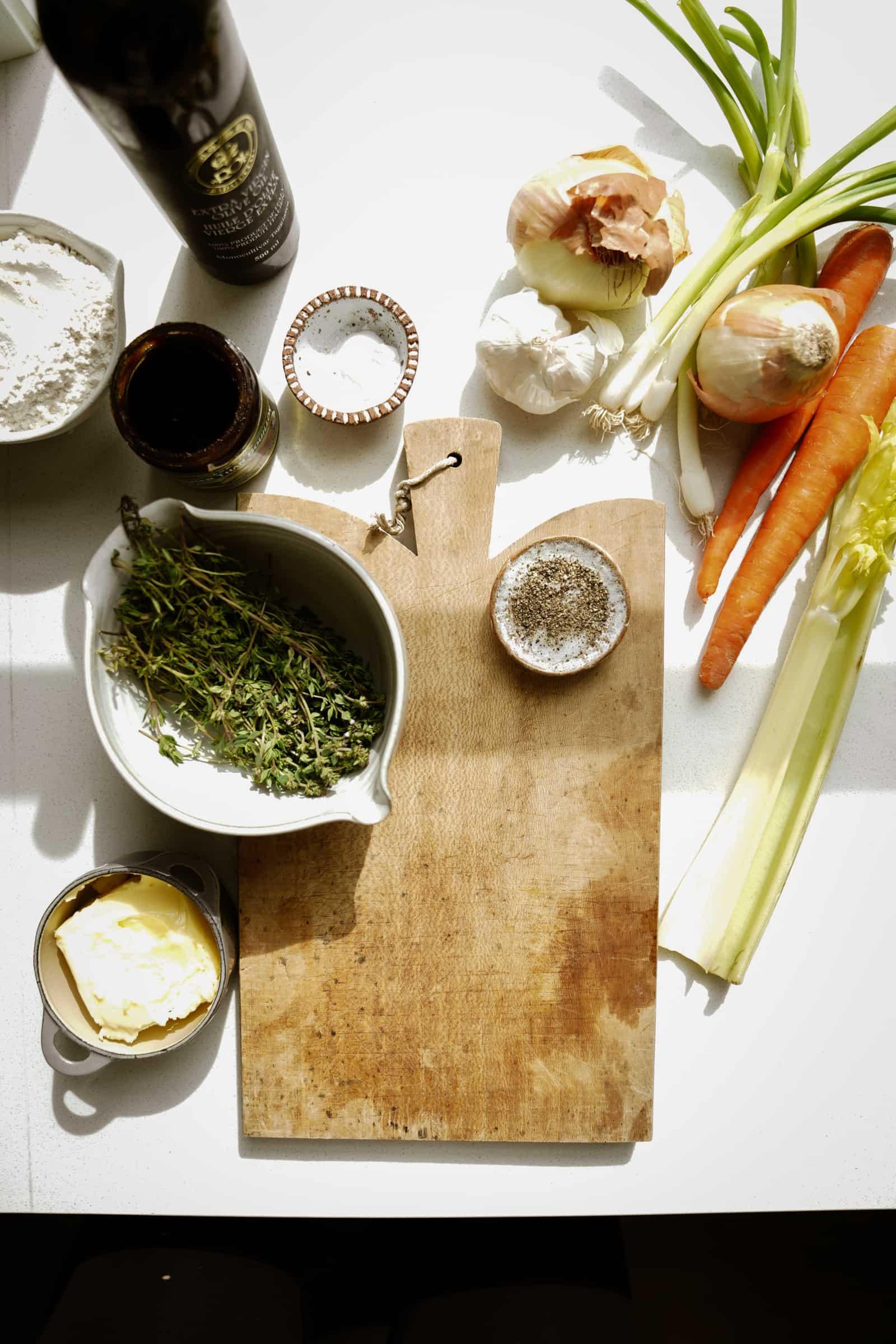Ingredients for vegan dumplings