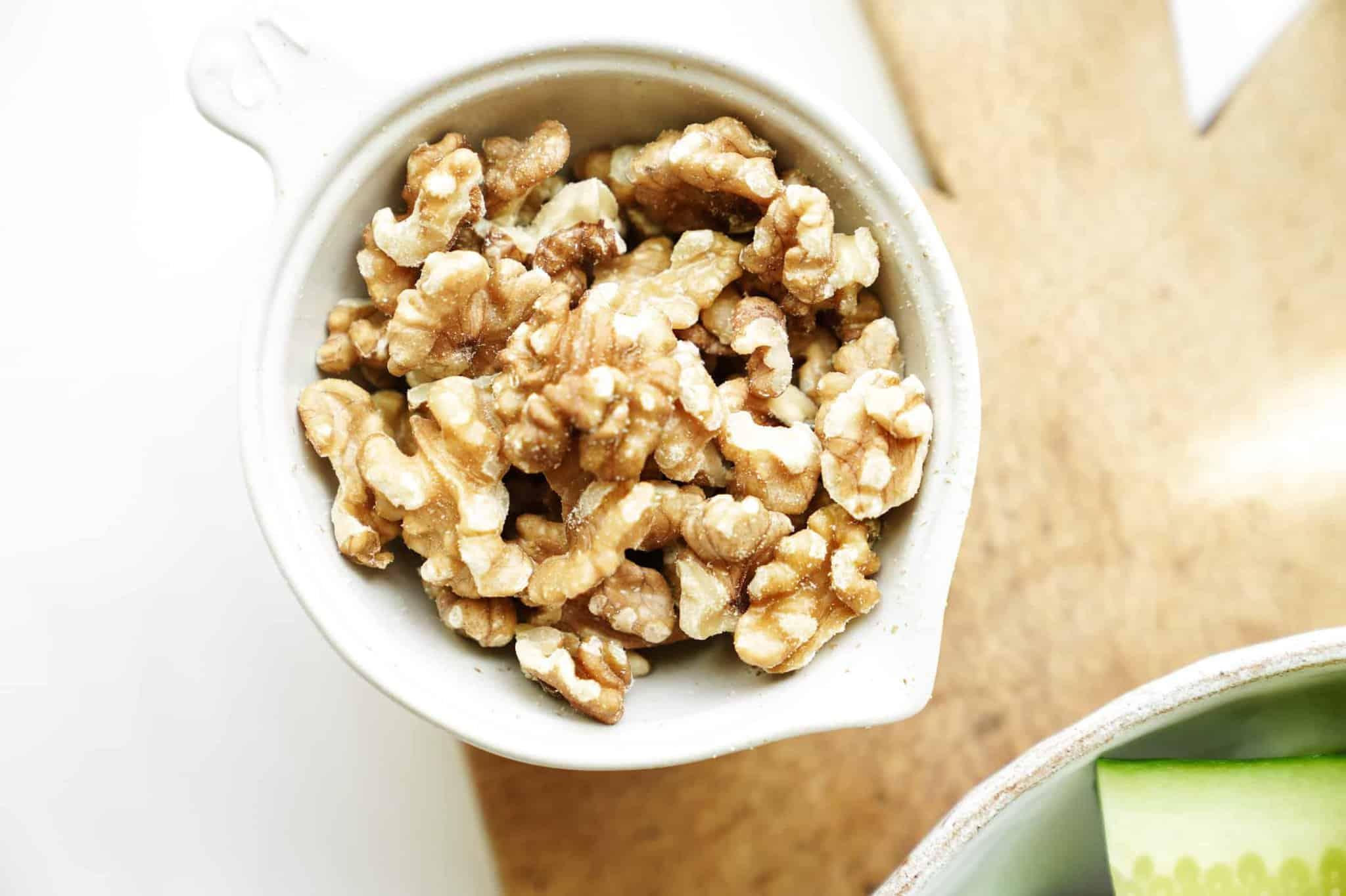 Walnuts in a serving dish