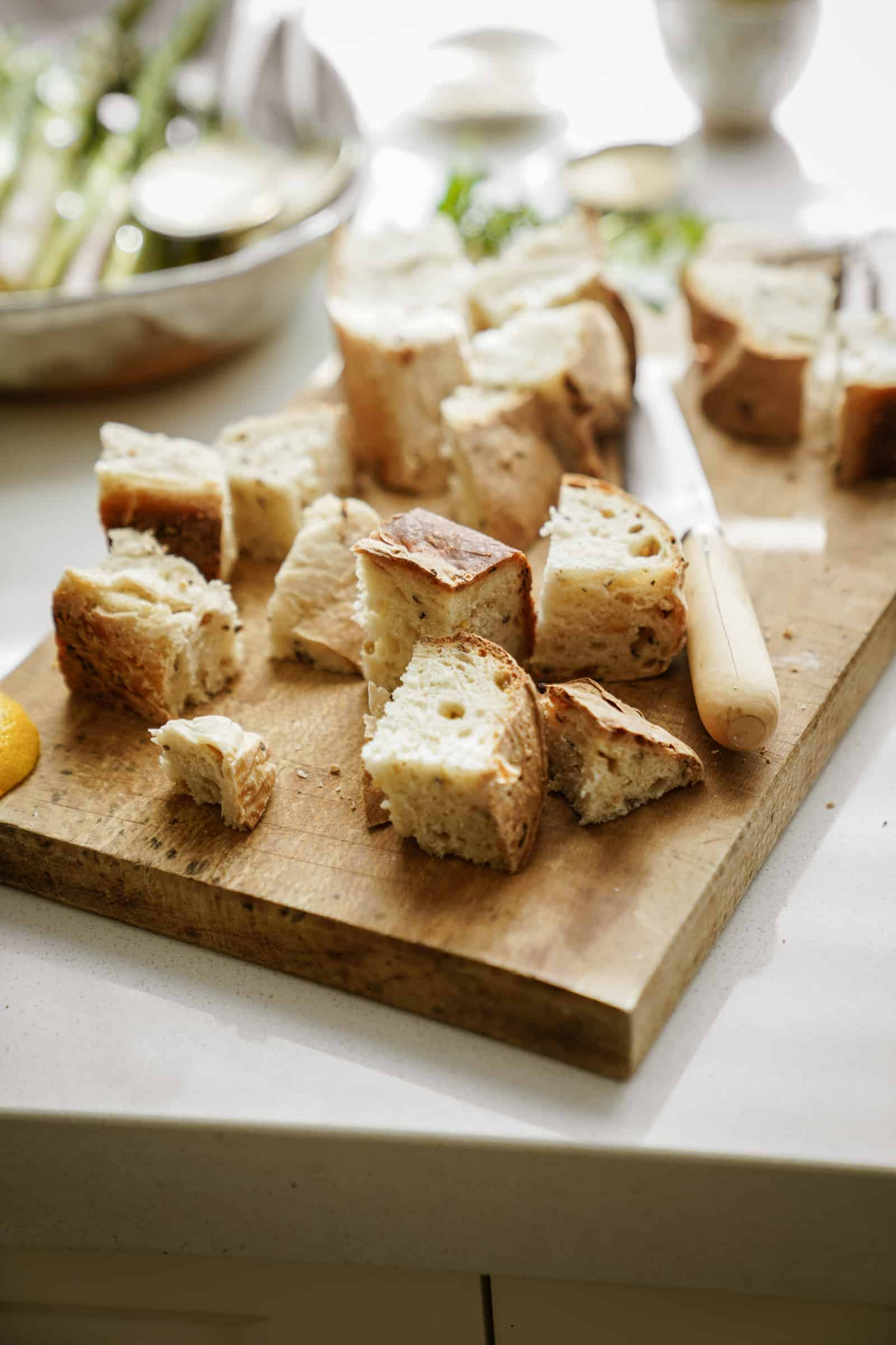 Bread on a cutting board