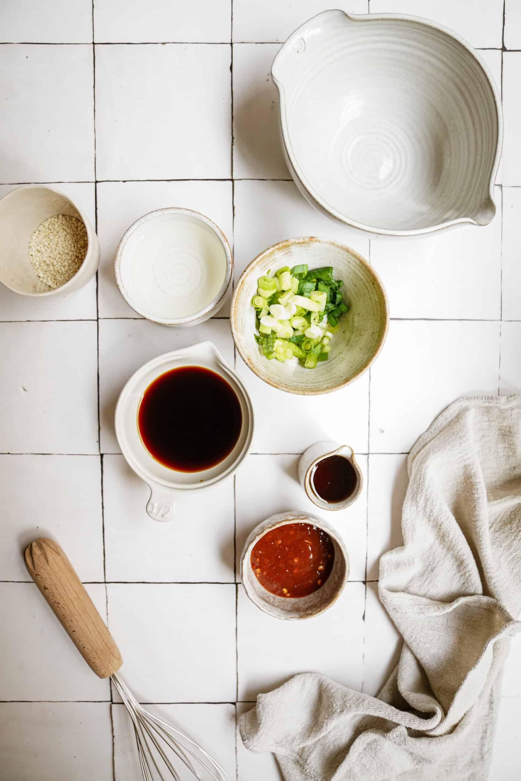 Ingredients for potsticker sauce