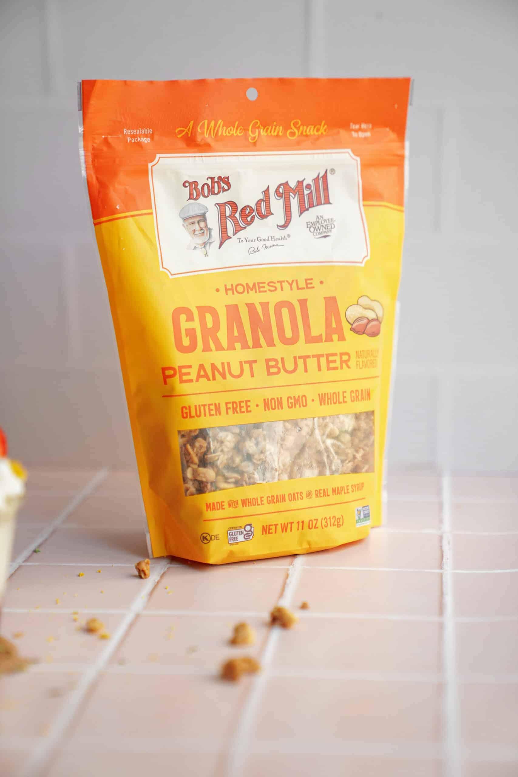 Bag of granola for Yogurt Parfaits