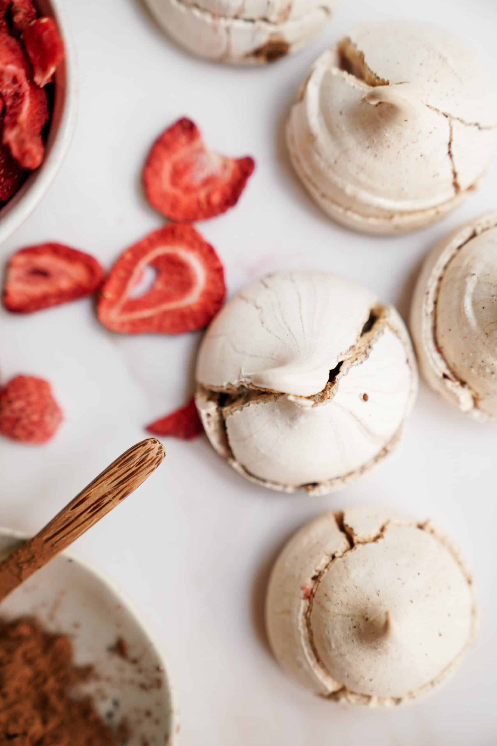 Meringue Cookie Recipe on counter with ingredients